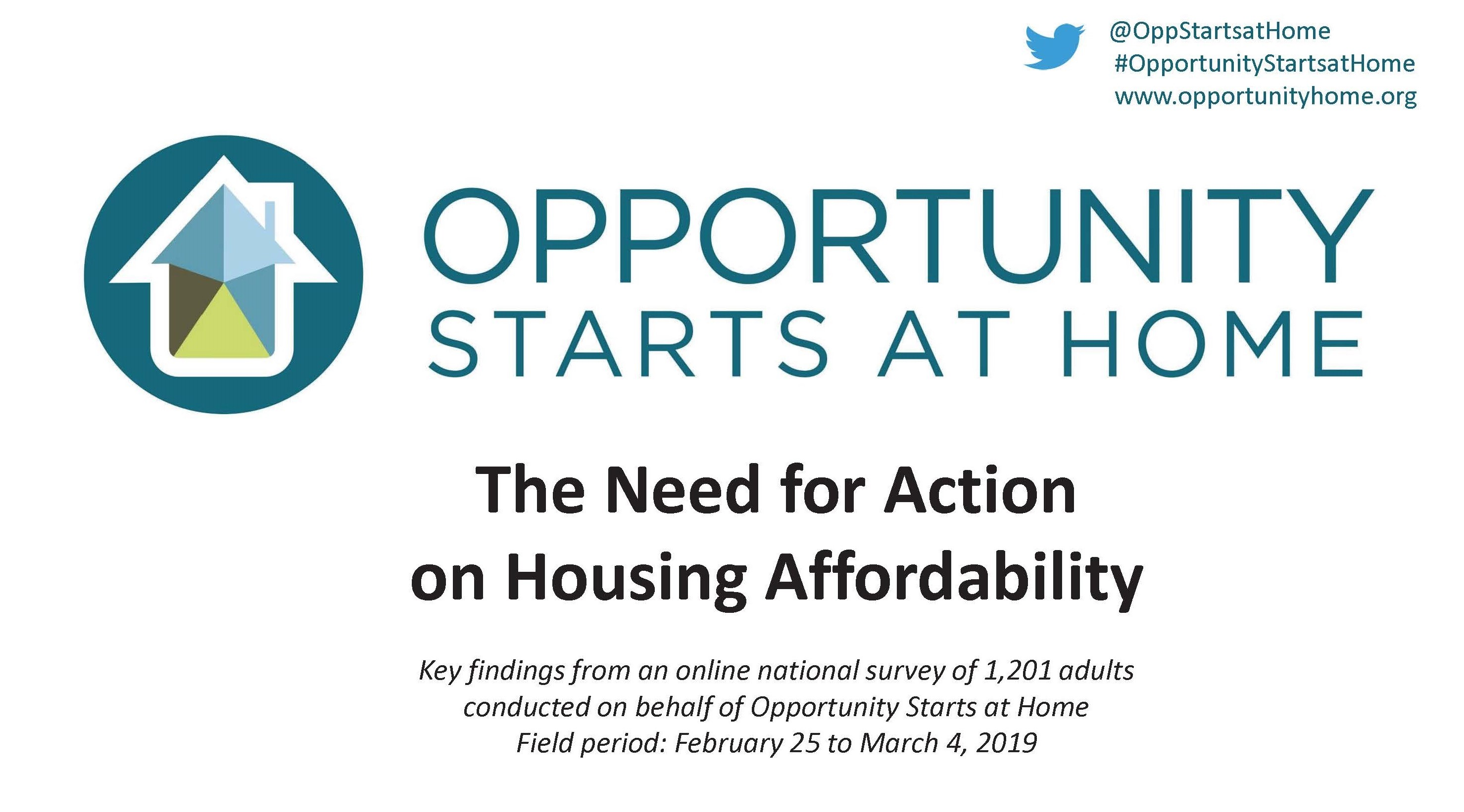Need for Action on Housing Affordability Cover